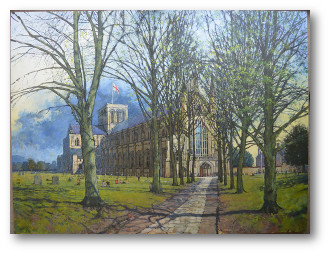 Winchester Cathedral work in progress