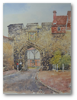 Winchester Priory Gate